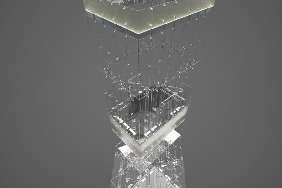 GlassFin taşıyıcı sisteme sahip CRYSTAL uygulamamız devam etmekte…